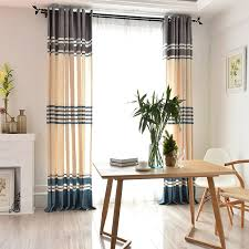 Floor To Ceiling Curtains Striped Modern Thermal Floor To Ceiling Curtains