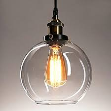 Retro Pendant Light Shades Glass Pendant Light Lantu Creative Vintage Industrial Metal