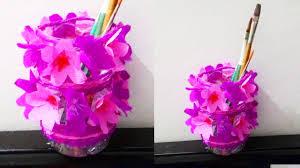 how to make waste bottle flower vase diy waste bottle pen