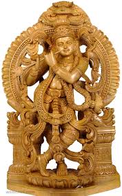 wood carving sculpture wood carving sculpture krishna hindu god 19 image