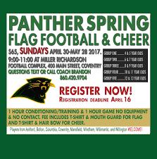 Cheerleader Flags Spring Flag Football U0026 Cheer Registration Panther Youth Football