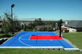 Backyard Basketball Court Residential Gallery Snapsports Of Utah Blog