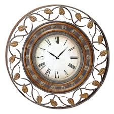 aspire home accents decorative iron 36 in wall clock hayneedle