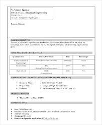 Electrical Engineering Resume Samples by Fresher Engineer Resume Templates 6 Free Word Pdf Format