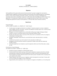 Sap Program Manager Resume Infrastructure Project Manager Resume Resume For Your Job
