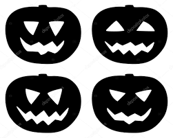 halloween pumpkin icons set isolated on white u2014 stock vector