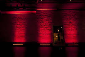 Red Lighting Classic Downtown Nyc Studio Space With Exposed Brick Wall New