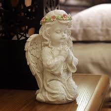 angel decorations for home european resin vintage pray angel figurines kneeling wearing a