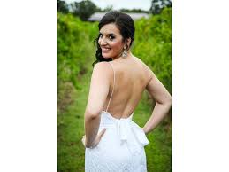 alfred angelo low back modern vintage wedding dress 8528 900