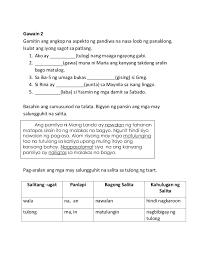 worksheet for grade 1 salitang naglalarawan k to grade learning