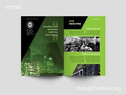 free black and green company profile indesign template free