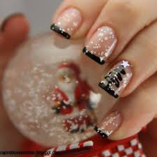 christmas tree with snow by rominacampos nail art gallery