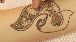 how to make beautiful henna peacock mehndi draw mehndi designs for