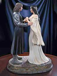 lord of the rings cake topper lord of the rings aragorn arwen cake topper figurine 16 95