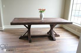 Dining Table Building Plans Charming Diy Rustic Dining Room Table With Dining Room