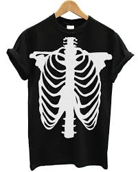 Scary Skeleton Halloween Costume by T Shirt Skull Halloween Ghost Vampire Scary Costume Dress Up Emo Goth