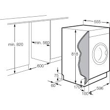 zanussi integrated 7kg washing machine zwi71201wa ao com