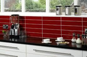 Red And Black Kitchen Tiles - red glass tile backsplash pictures dark kitchen black subscribed