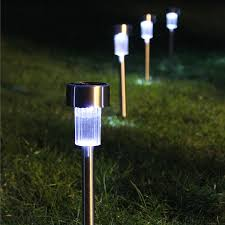 stylish solar outdoor lighting and integrated solar panel