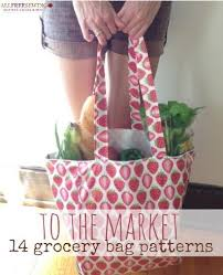 pattern ideas to the market 14 grocery bag pattern ideas allfreesewing com