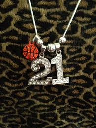 personalized basketball necklace 18 personalized rhinestone sports jersey two 1 numbers necklace