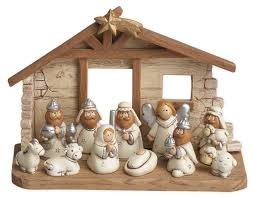amazon com miniature kids nativity scene with creche set of 12