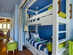bunk bed niche with happy inspired color palette