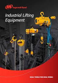 industrial lifting equipment ingersoll rand pdf catalogue