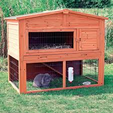Rabbit Hutch With Large Run Trixie 2 Story Rabbit Hutch With Attic Extra Large Hayneedle
