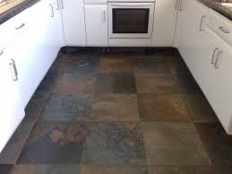slate floor kitchen with decorating