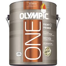 shop olympic one base 1 ultra white semi gloss acrylic exterior