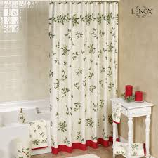 lenox holiday holly shower curtain