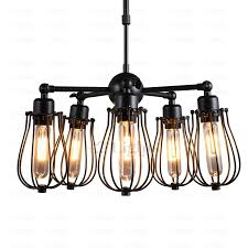 5 light fan shaped industrial light fixtures