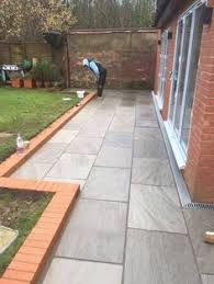 Large Pavers For Patio by Silver Grey Indian Sandstone Paving Slabs 900x600 Large Size Paver