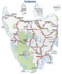 map of tasmania australia road map highways tasmania