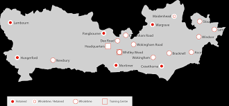 Berkshire England Map by Fire Stations