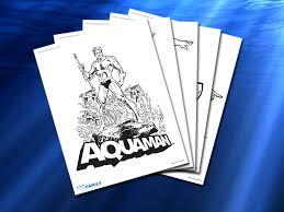 aquaman coloring pages themed printables aquaman dc