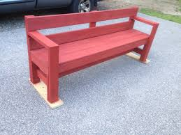 Vintage Redwood Patio Furniture - outdoor bench with color added i used ace brand redwood stain in