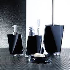 Silver Bathroom Accessories Sets by Bathroom Accessory Set Gedy An500 14 Black 2 Piece Marble