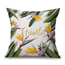 wholesale bird of paradise flower design cushion pillow