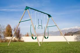 amazon com lifetime 290038 heavy duty a frame metal swing set