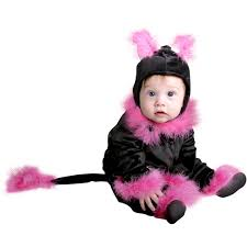 cat costume for halloween amazon com baby pink cat infant halloween costume 6 18