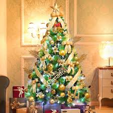7ft christmas tree luxury boxed traditional forest green with