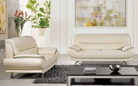 Ivory Leather Loveseat Bella Ivory Leather Living Room Sofa