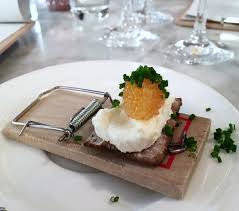 vdi cuisine from a s instagram whitefish roe on hardtack bread on a