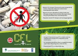 energy saving compact fluorescent lamp cfl recycling project