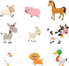set of farm animal cartoon stock vector art 539000402 istock