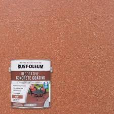 rust oleum 1 gal red brick decorative concrete coating 2 pack
