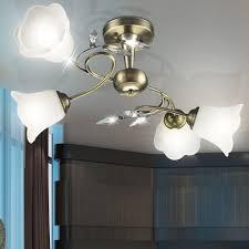 Leuchten Wohnzimmer Landhausstil Antike Messing Glas Beleuchtung Landhausstil Lampe Wohnzimmer