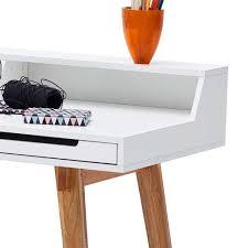 Pc Schreibtisch Buche Schreibtisch Finora In Buche Weiß 110 Cm Breit Wohnen De